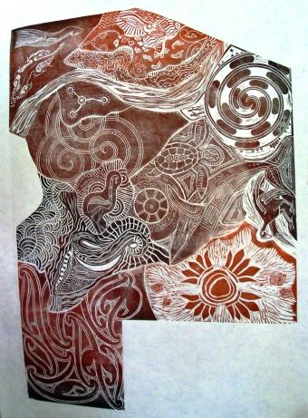 Group Lino Print